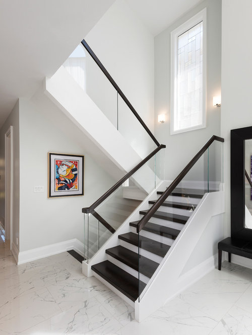 Transitional Toronto Staircase Design Ideas Remodels Amp Photos
