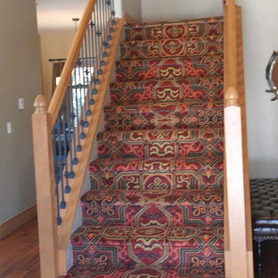 Example of a mountain style staircase design in Denver