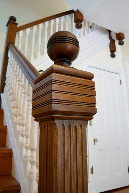 traditional staircase by Restoring our 1890 Victorian