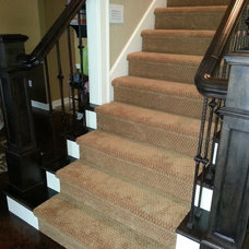 Traditional Staircase by T&E Construction, Inc.