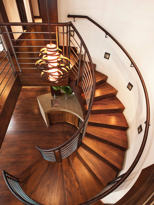 Inspiration For A Contemporary Spiral Staircase Remodel In Denver