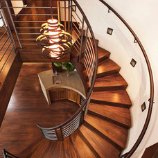 Contemporary Staircase by Beck Building Company