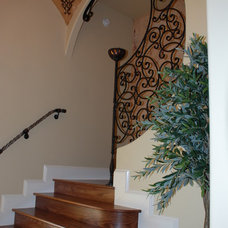 Mediterranean Staircase by Hyatt Design, Inc.