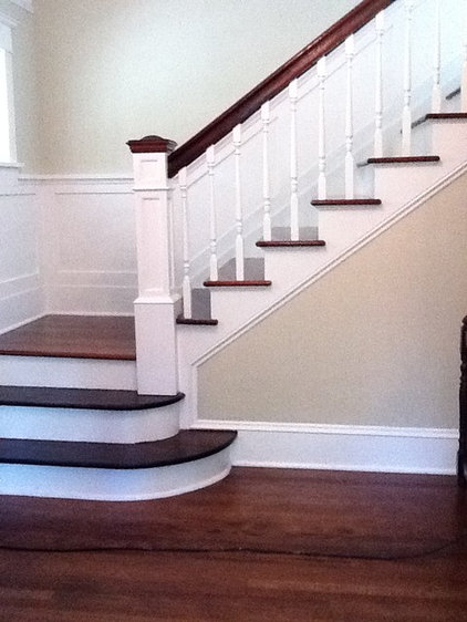 Traditional Staircase by Kathryn Tegreene Interior Design