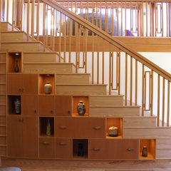 asian staircase by Cleary Design Studio, LLC