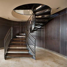 Contemporary Staircase by Wascha Studios