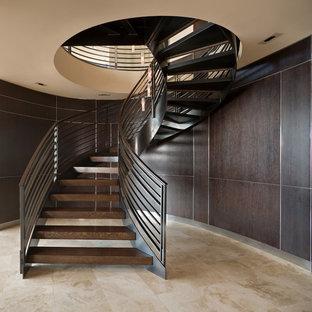 Cette image montre un escalier sans contremarche design.