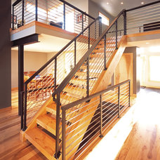 Contemporary Staircase by Vaught Frye Larson Architects