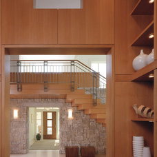 Rustic Staircase by Sutton Suzuki Architects