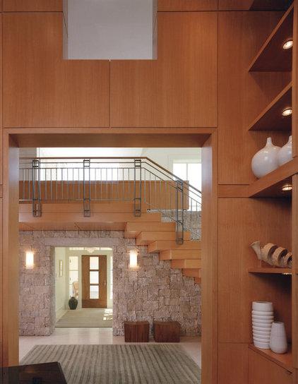 Rustic Staircase by Sutton Suzuki Architects
