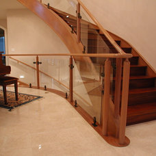 Modern Staircase by Master Woodworks inc