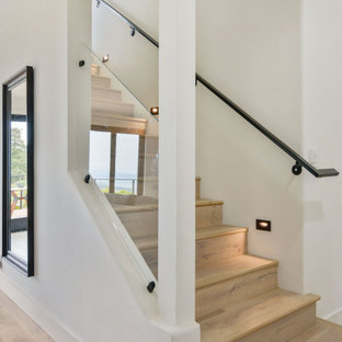 Example of a french country staircase design in San Francisco
