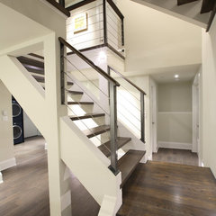 modern staircase by Best Builders ltd