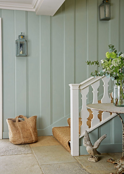 Country Staircase by Creative Curtains and Interiors