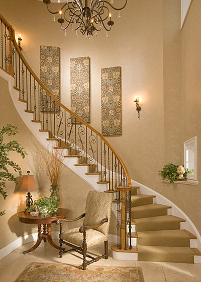 Traditional Staircase by Suzanne Price Design, LLC