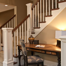 Traditional Staircase by Falcon Custom Homes