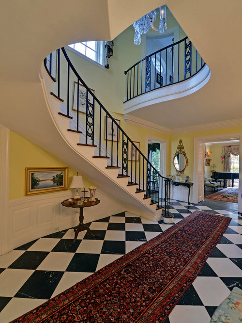 Inspiration for a timeless curved staircase remodel in Atlanta