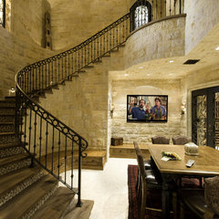 mediterranean wine cellar by Bliss Home Theaters & Automation, Inc