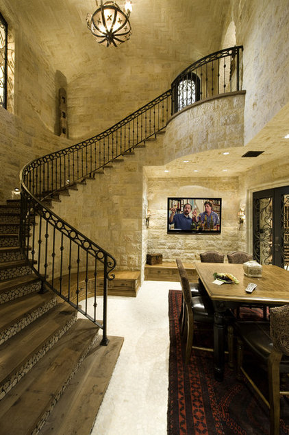 Mediterranean Staircase by Bliss Home Theaters & Automation, Inc