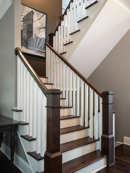 Craftsman Detroit Staircase Design Ideas Remodels Photos