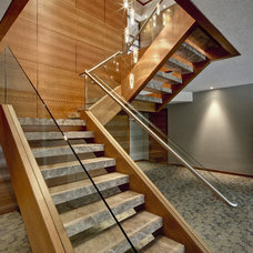 Contemporary Staircase by DesRosiers Architects