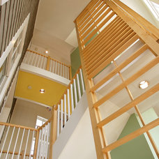 Contemporary Staircase by Boardwalk Builders