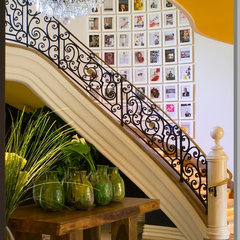 eclectic staircase by Tracy Murdock Allied ASID