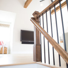 Transitional Staircase Bonus Room - Home Office