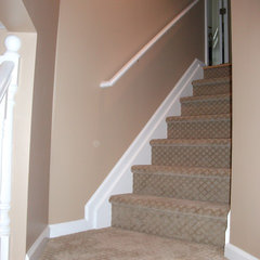 traditional staircase by Livin' A Dream Renovations
