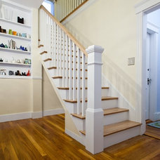 Traditional Staircase by Boston Green Building