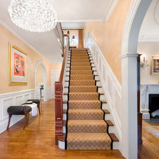Traditional Staircase by CHRISICOS INTERIORS