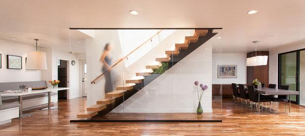treppe in minimalistischem stil bilder, so gewinnen treppen an dynamik, Design ideen
