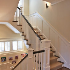 Traditional Staircase by Finecraft Contractors, Inc.