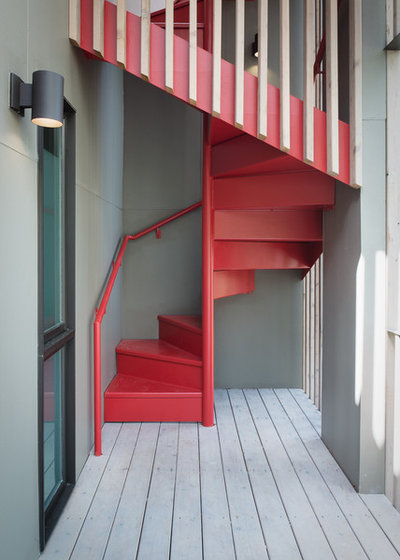 Midcentury Staircase by Webber + Studio, Architects