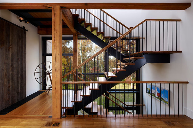 Farmhouse Staircase by Moger Mehrhof Architects