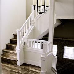 traditional staircase by Jamestown Builders