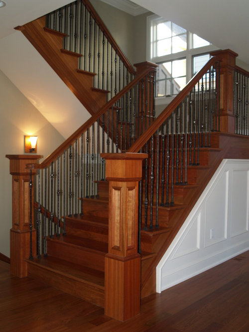 Brazilian Cherry Stair Home Design Ideas, Pictures, Remodel and Decor
