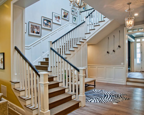 Traditional staircase design ideas remodels photos for Stair remodel houston