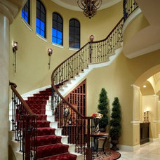 Mediterranean Staircase by Brentwood Construction and Remodeling