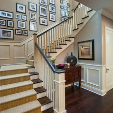 traditional staircase by Jill Wolff Interior Design