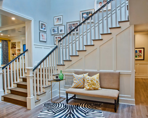 Elegant Wooden Staircase Photo In Los Angeles