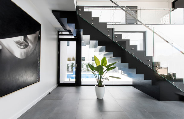Contemporary Staircase by Robin Payne - Building Design