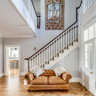 Design ideas for a traditional straight staircase in Wiltshire.