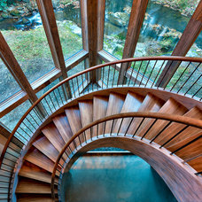Rustic Staircase by Platt Architecture, PA