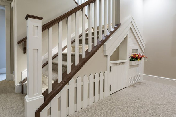 Traditional Staircase by Marre Design Group