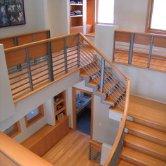 contemporary staircase by COOK ARCHITECTURAL Design Studio