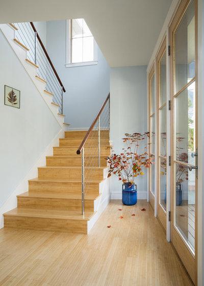 トランジショナル 階段 by Priestley + Associates Architecture