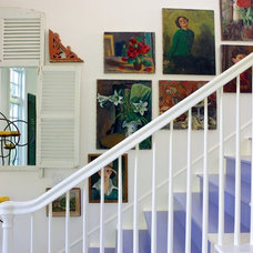 Eclectic Staircase by Alison Kandler Interior Design