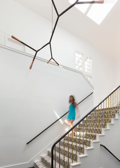 Contemporary Staircase by Ann Lowengart Interiors