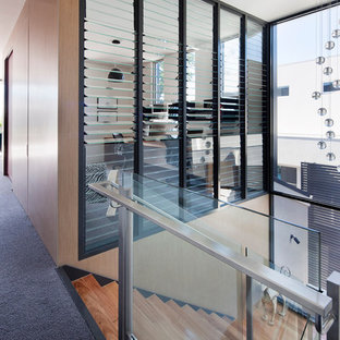 Example of a minimalist wooden staircase design in Melbourne